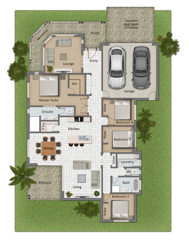 Seaside Floorplan